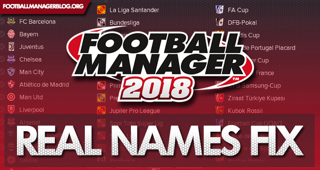 football manager 2018 real names fix