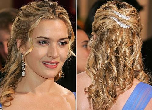 Cabelos médios penteados