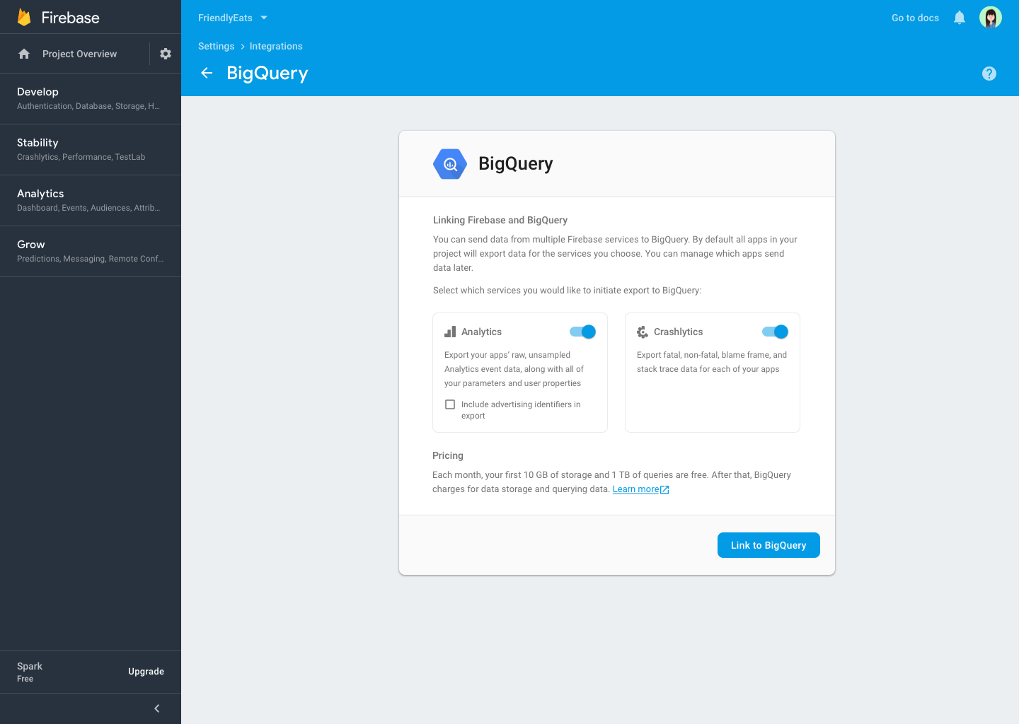 The Firebase Blog: Exporting Crashlytics data to BigQuery
