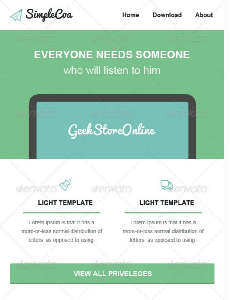Email Newsletter Templates PSD Free Premium Downloads - Simple newsletter template
