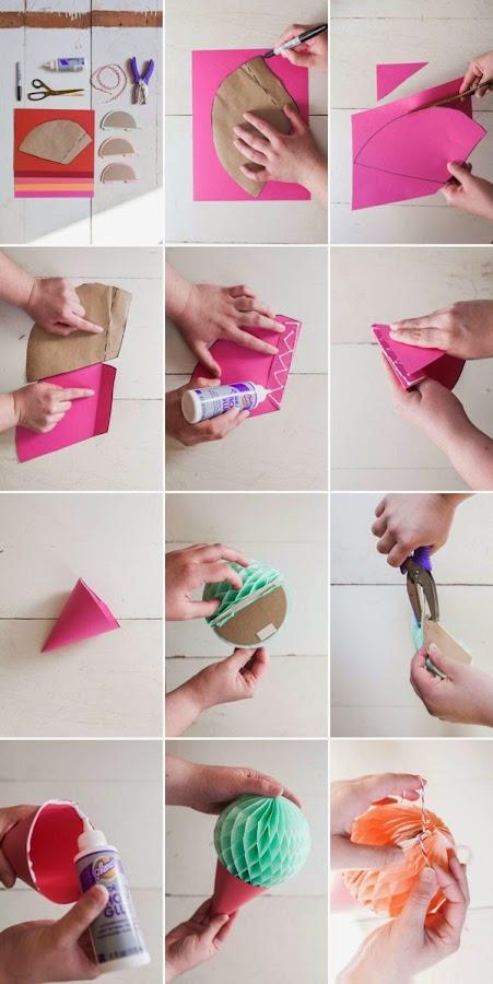 cómo hacer guirnalda de helados