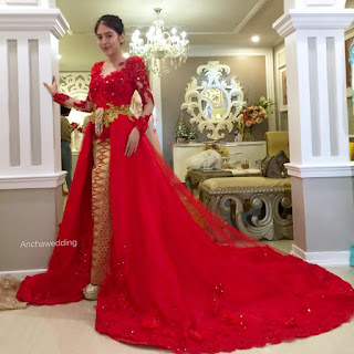 Baju Pengantin Mewah Warna Merah