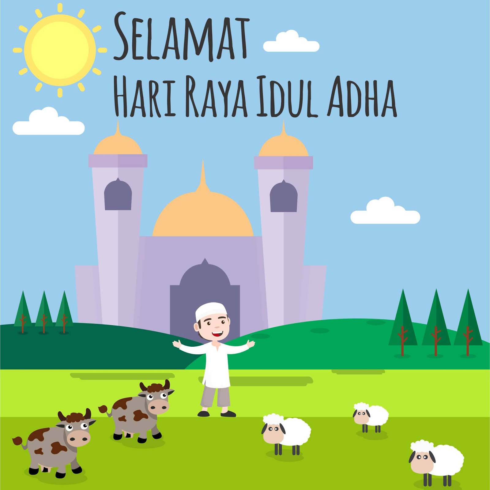 Kartu Ucapan Perayaan Hari Raya Qurban