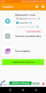 Cara ScreenShot Panjang Di Aplikasi Longshot