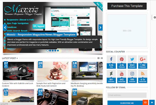 Sevida Blogger Template Free Download