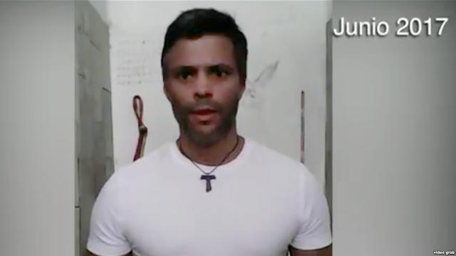El líder opositor venezolano gritó por ayuda el viernes desde su reclusión en la cárcel de Ramo Verde