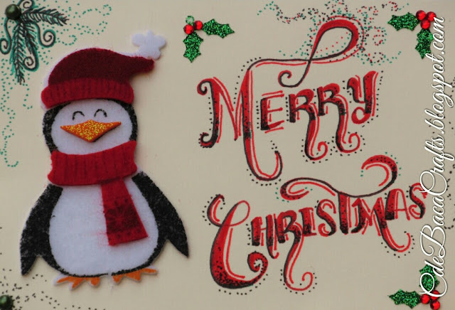 Penguin Christmas Card by CdeBaca Crafts blog.