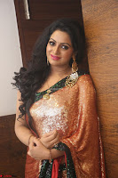 Udaya Bhanu lookssizzling in a Saree Choli at Gautam Nanda music launchi ~ Exclusive Celebrities Galleries 088.JPG
