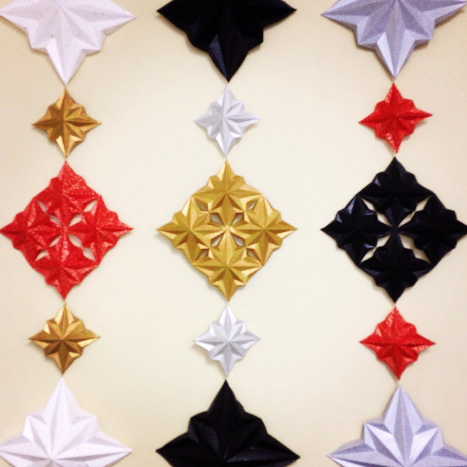 d co murale en origami kami art cr ation en papier. Black Bedroom Furniture Sets. Home Design Ideas