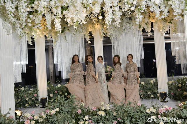 Gillian Chung wedding bridesmaid