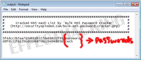 Bulk MD5 Password Cracker - Command-line Based Mass MD5 Hash