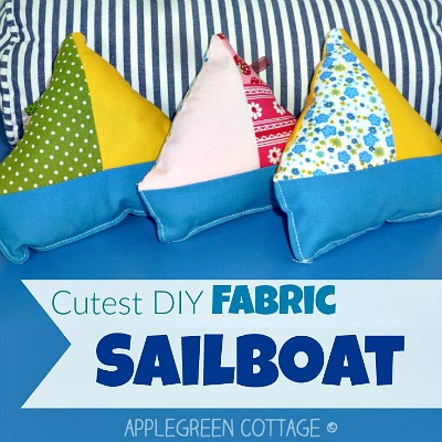 Free PDF Printable Template - Fabric Sailboat Toy