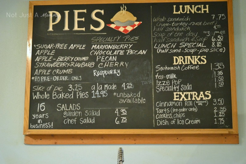 Pi Day Snohomish Pie Company menu