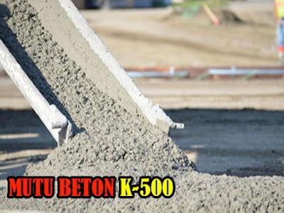HARGA BETON JAYAMIX MUTU K500, MUTU BETON K500, HARGA BETON COR K500