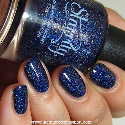 nail polish swatch of milky way by starrily