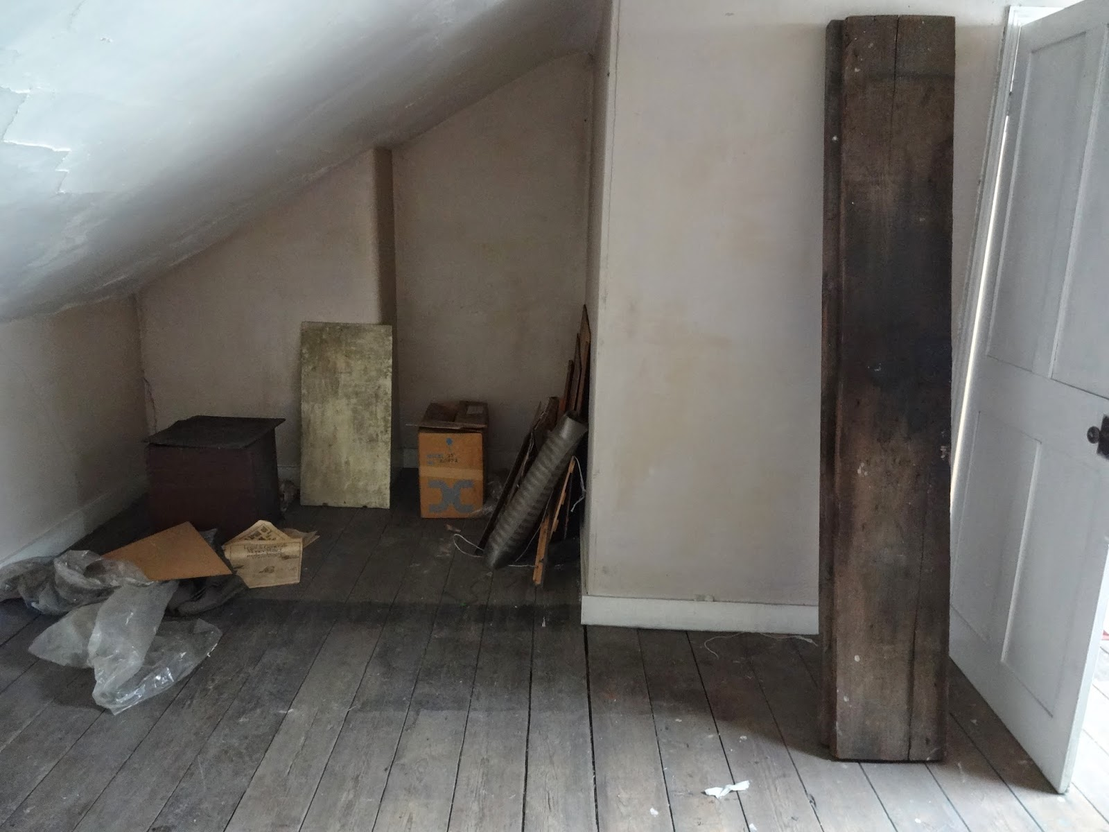 large victorian attic room