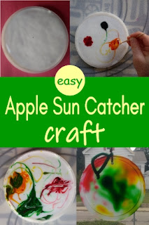 easy Apple Sun Catcher craft