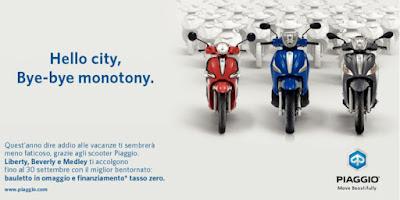 Scooter Piaggio ruota alta: ideale stagione primaverile