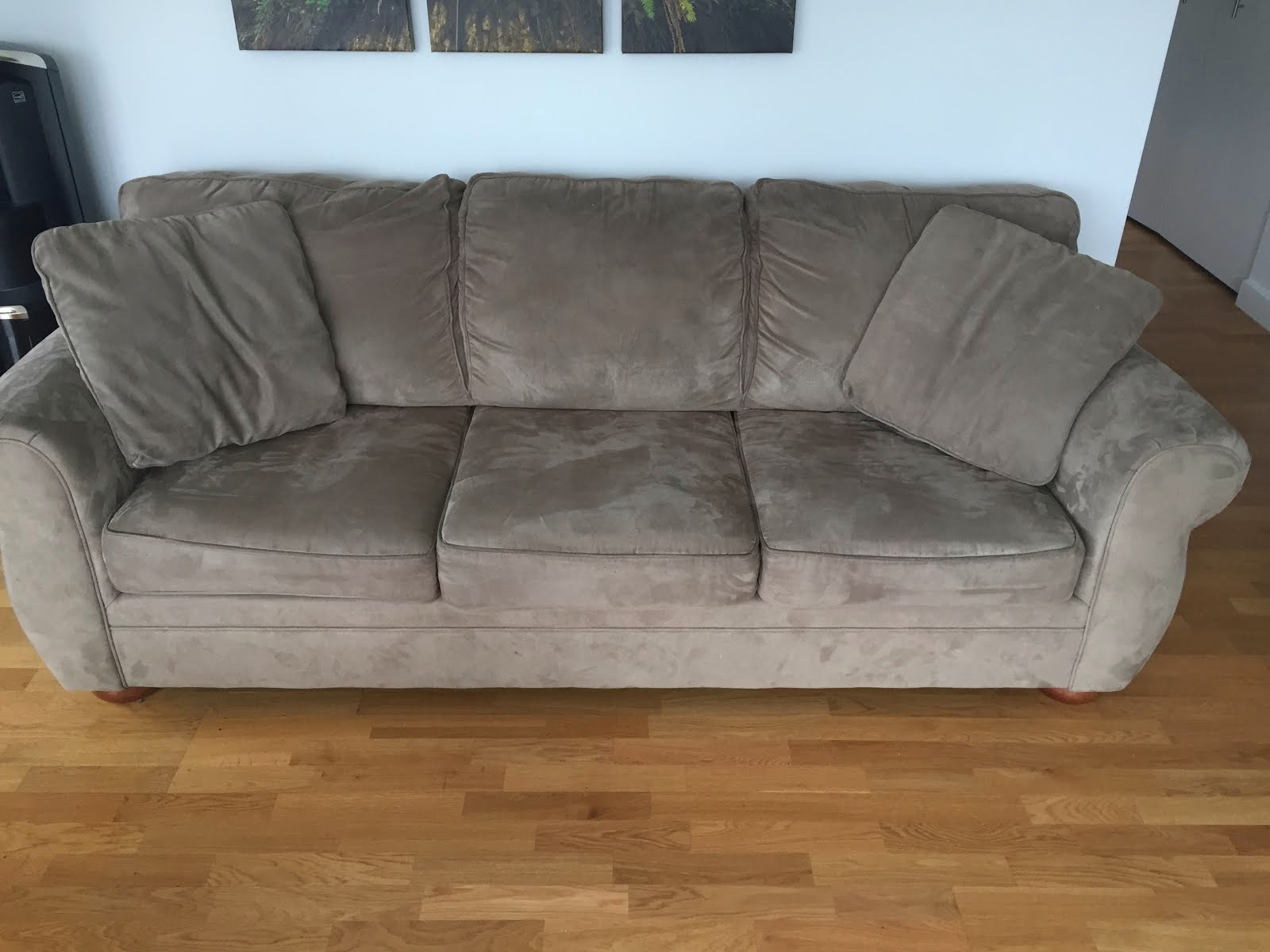 ROOSEVELT ISLAND LISTINGS For Sale Microfiber Sofa $50