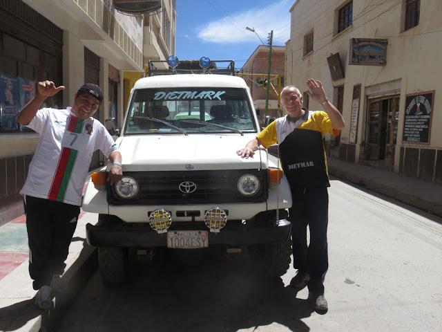 16.10.2016 Nach knapp 8 Jahren guter Dienste schieden sich unsere Wege, das Auto ist verkauft, jetzt wollen wir schauen, bis wann ein neues in Potosí bereitsteht. Potosí ist ja nicht Frankfurt.