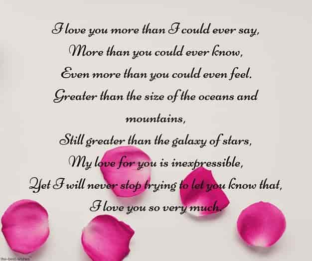 i love you poem for husband
