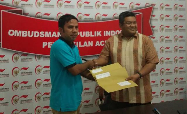 Walhi Aceh Laporkan Dua Kasus Merugikan Publik ke Ombudsman