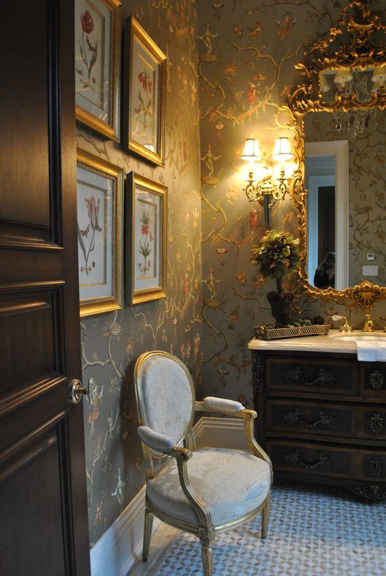 image result for The Enchanted Home powder room