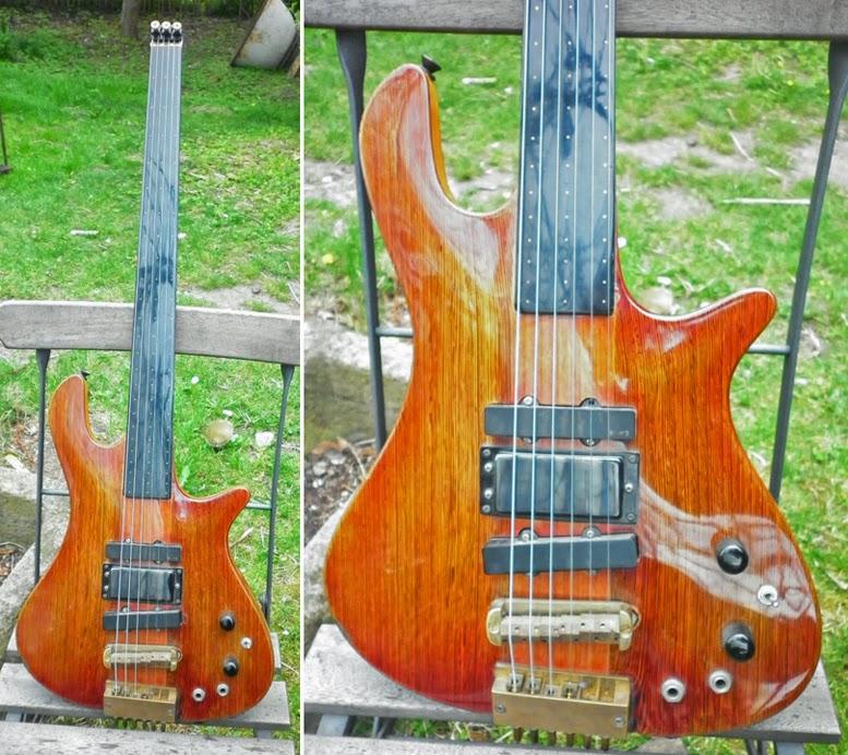 guitar blog one off fretless baritone guitar with kramer headless alu neck. Black Bedroom Furniture Sets. Home Design Ideas