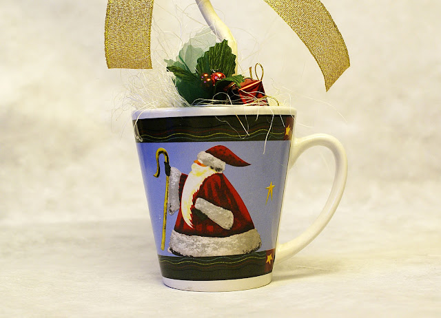 Drzewko z cukierków - stroik bożonarodzeniowy