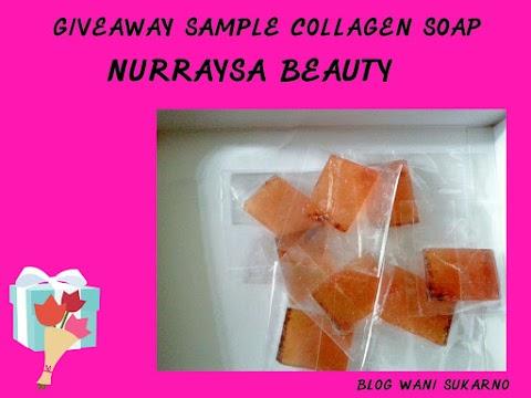 Giveaway Sample Collagen Soap Nurraysa Beauty