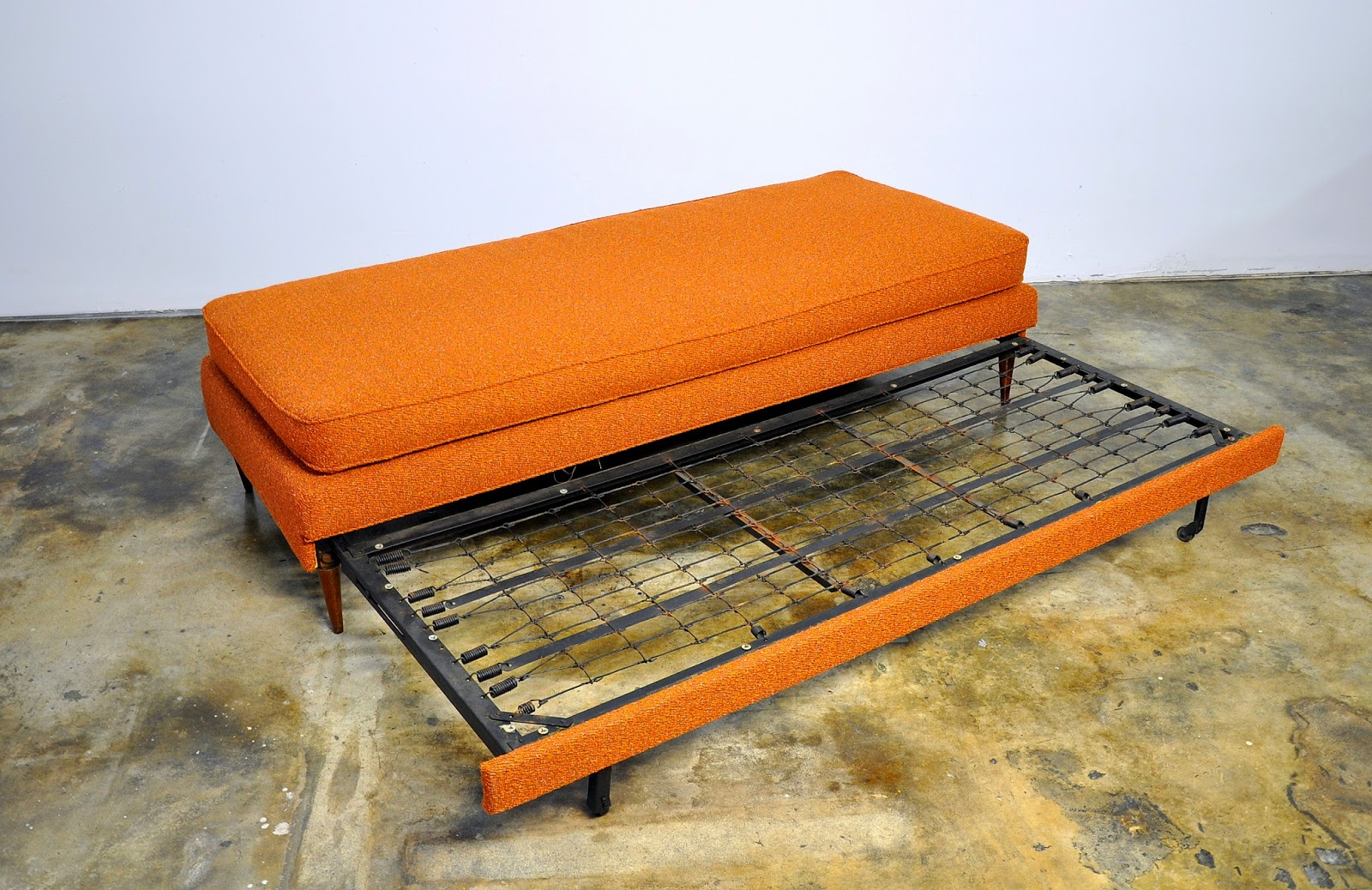 Couch Daybed Select Modern: Danish Modern Sofa Or Daybed With Trundle