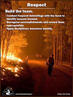 Build the Team Conduct frequent debriefings with the team to identify lessons learned. Recognize accomplishments and reward them appropriately. Apply disciplinary measures equally.