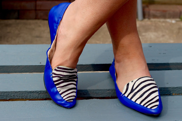 Butterfly Twists Zebra Shoes