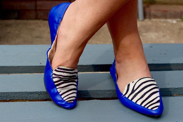 Butterfly Twists Zebra Shoes