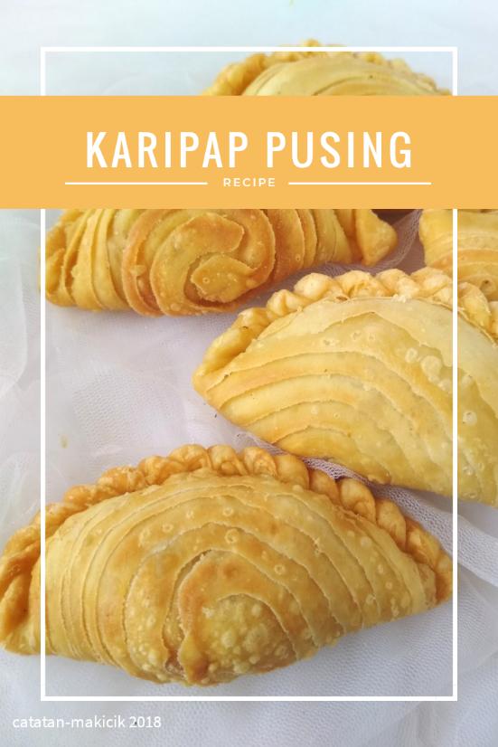 Resep Karipap Pusing a.k.a Curry Puff Singapore