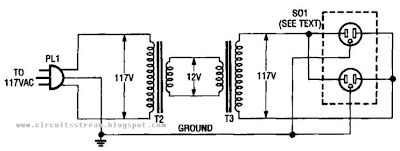 Inexpensive Isolation Transformer Circuit Diagram