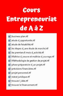 Cours Entreprenariat de A à Z