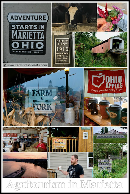 where to stay, where to eat, and what to do for a girlfriend's getaway in Marietta, Ohio, part one of my series on Agritourism Adventures in Marietta.