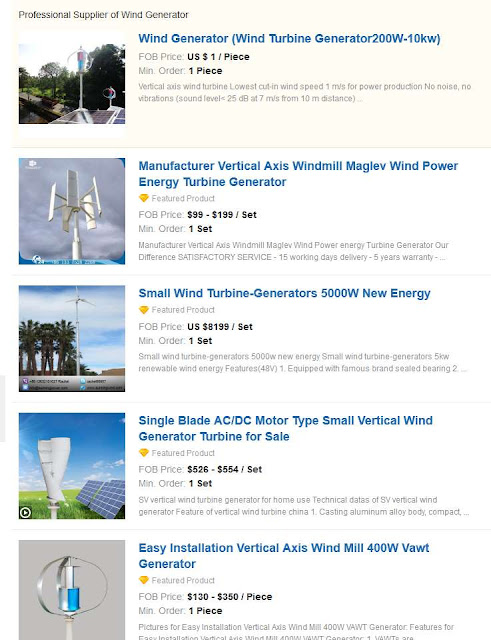 Предложения ветрогенераторов от китайских производителей