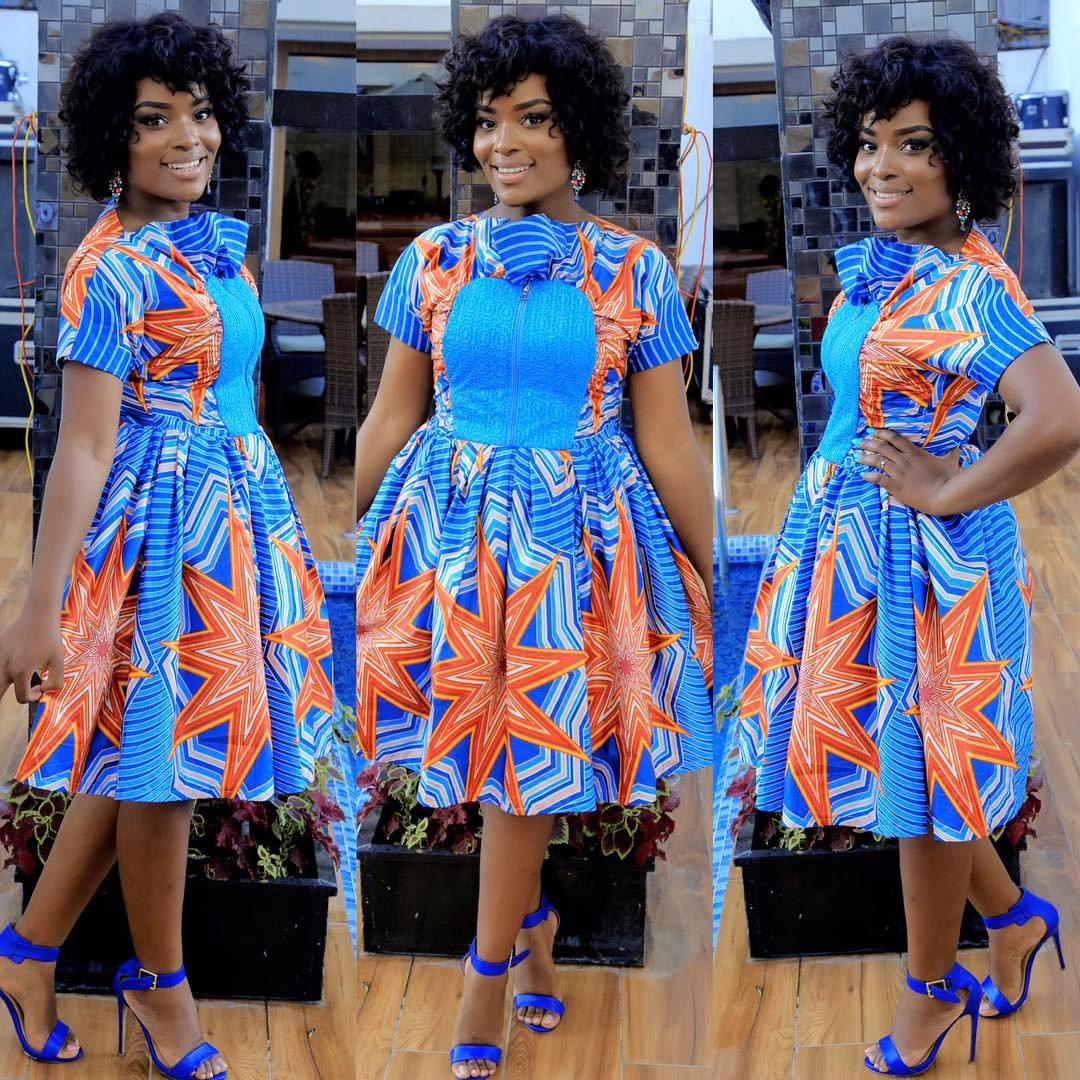 Flawless Kitenge Short Dresses