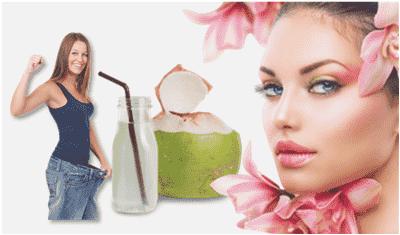 khasiat air kelapa hijau menjaga kecantikan dan atasi berat badan