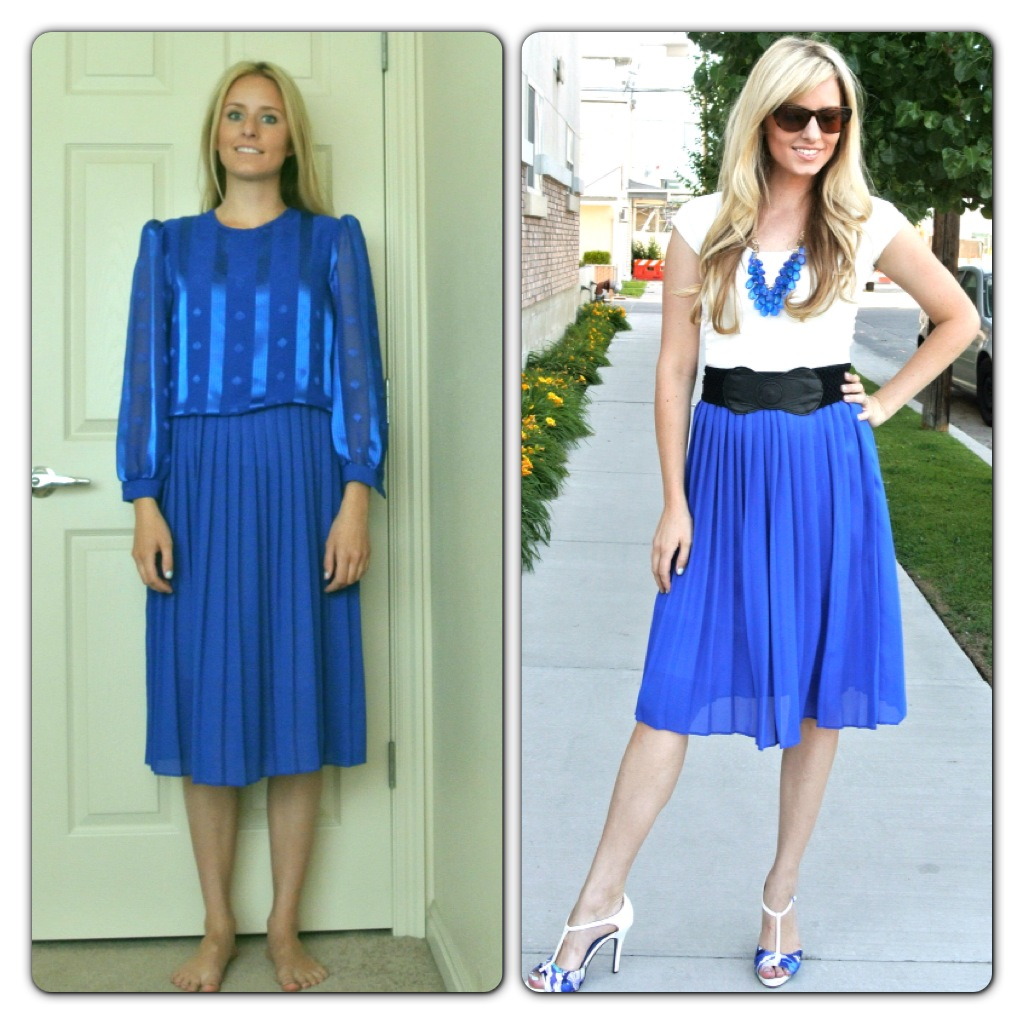 This Mirror Could Look Ugly And Old Fashioned But In This: Pleated Dress Refashion