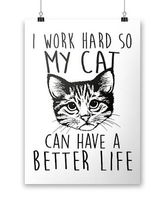 #WeeklyWisdom:  I Work Hard So My Cat Can Have a Better Life