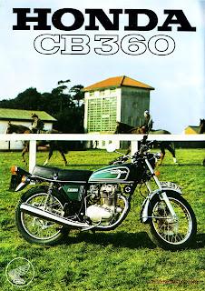 Honda CB360 brochure 1975 page 1