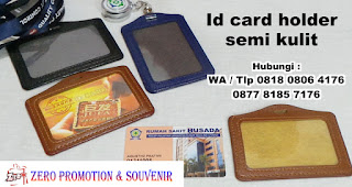 Casing id card kulit, Card holder Leather, Tempat Id card Kulit, Casing id card semi kulit, Name Tag Kulit