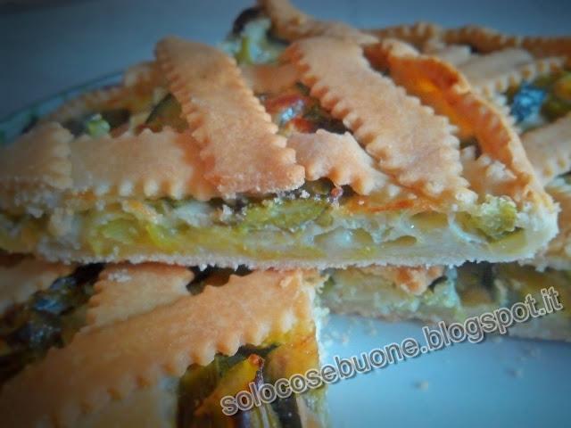 Torta salata di asparagi e zucchine