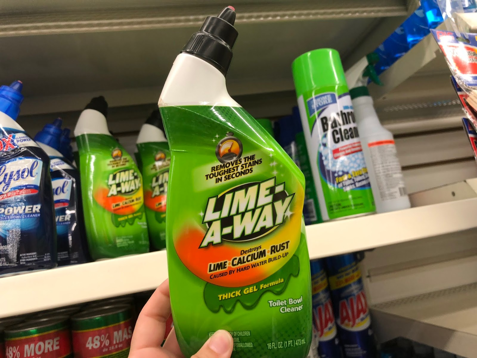 Dollar Tree 25 Cent Lime A Way Toilet Bowl Cleaner