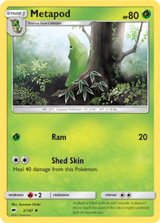Metapod Burning Shadows Pokemon Card