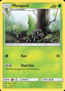 Metapod Burning Shadows Pokemon Card