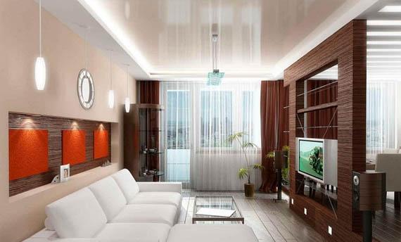 Model Warna Plafon Ruang Tamu Kecil